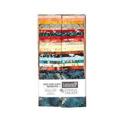 "Timeless Treasures Tonga Batik Citrus 2.5"" Strips"