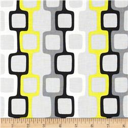 Graffiti Abstract Chainlinks Yellow/Grey