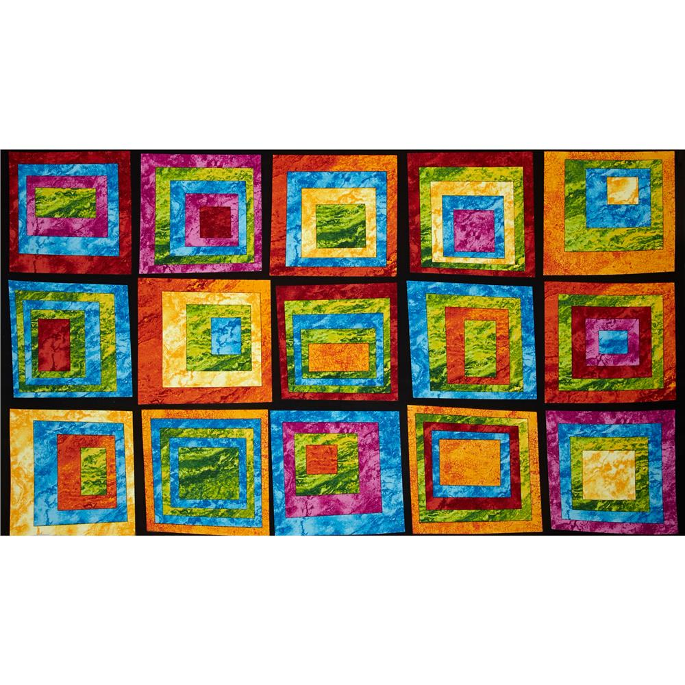 Rock Around The Block Marblehead Abstract Squares Blue