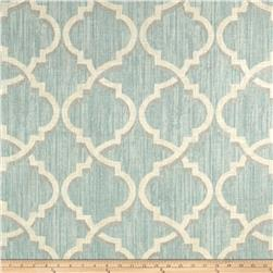 Waverly Lustrous Lattice Linen Blend Mineral