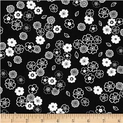 Fade to Black Small Flowers Black