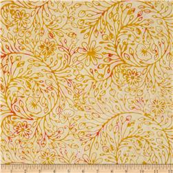 Moda Xanadu Batiks Floral Scroll Sunrise