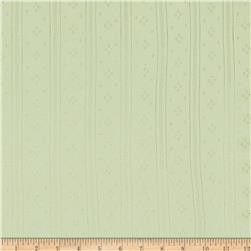 Cotton Pointelle Knit Mint
