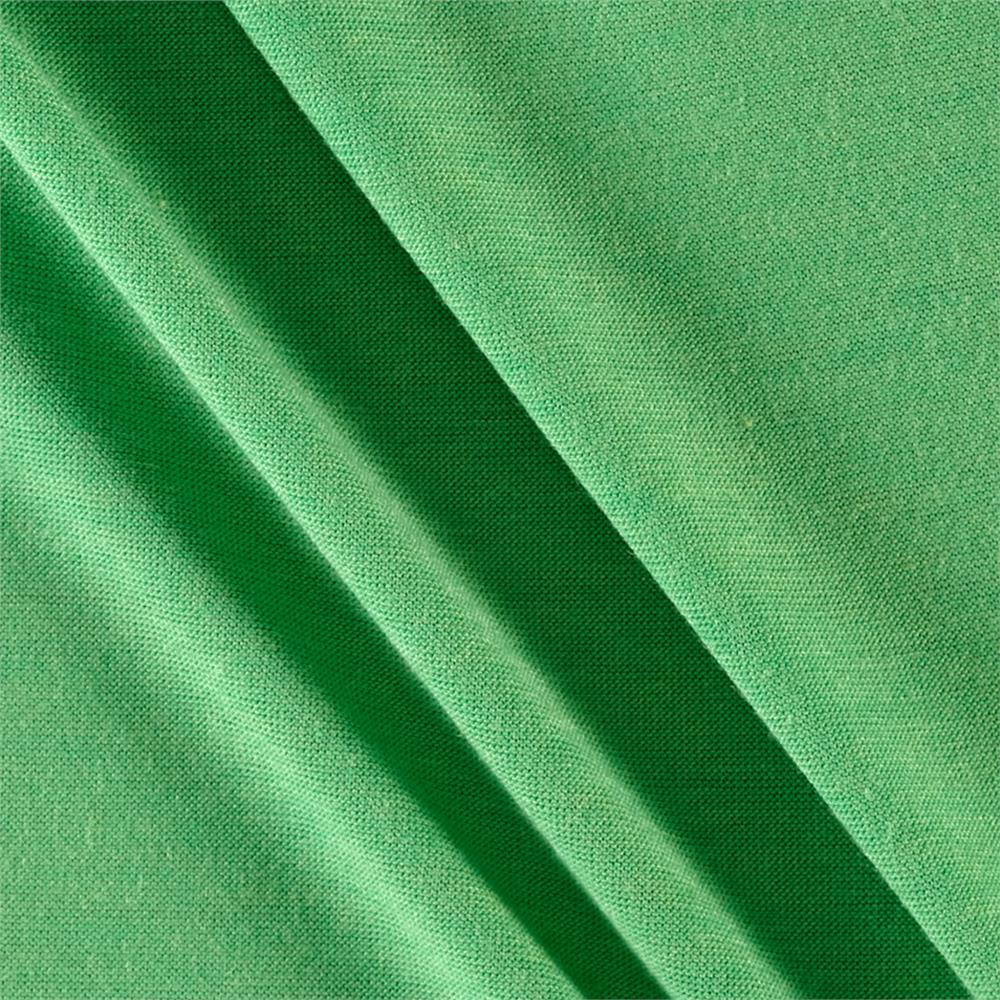 Polyester Jersey Knit Solid Bright Green Fabric
