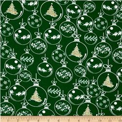 Christmas Novelties Ornaments Metallic Green