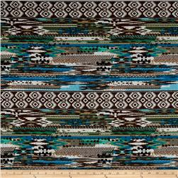 Stretch Kashmir Hatchi Knit Grey/Ink Blue/Brown