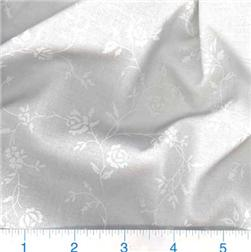 "108"" Quilt Backing Tone on Tone Floral White/White"