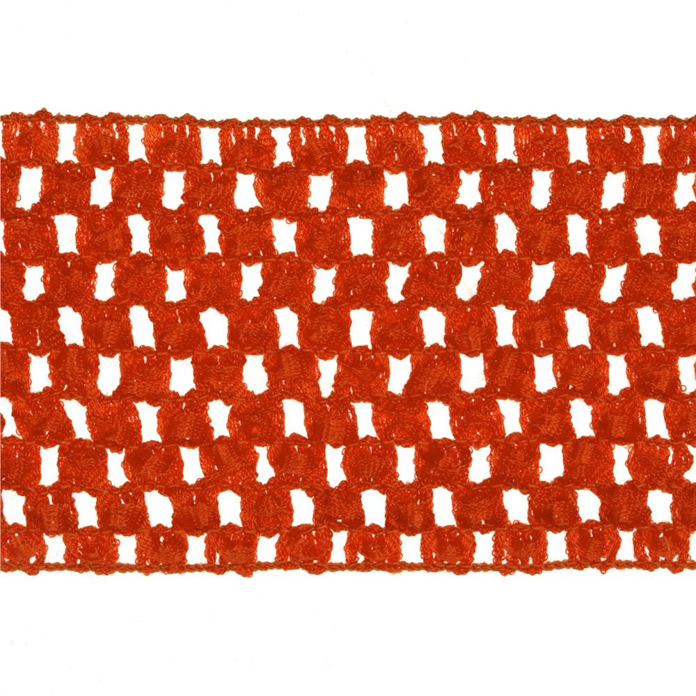 "2 3/4"" Crochet Headband Trim Orange"