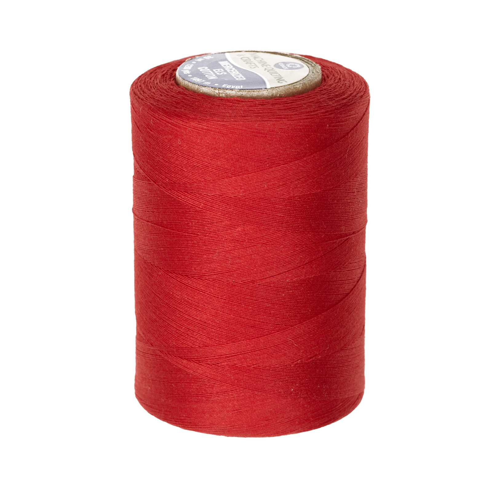 Cotton Machine Quilting Thread 1200 YD Red by Coats & Clark in USA