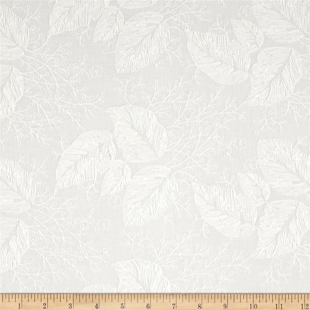 Alice Embroidered Lawn Off-White