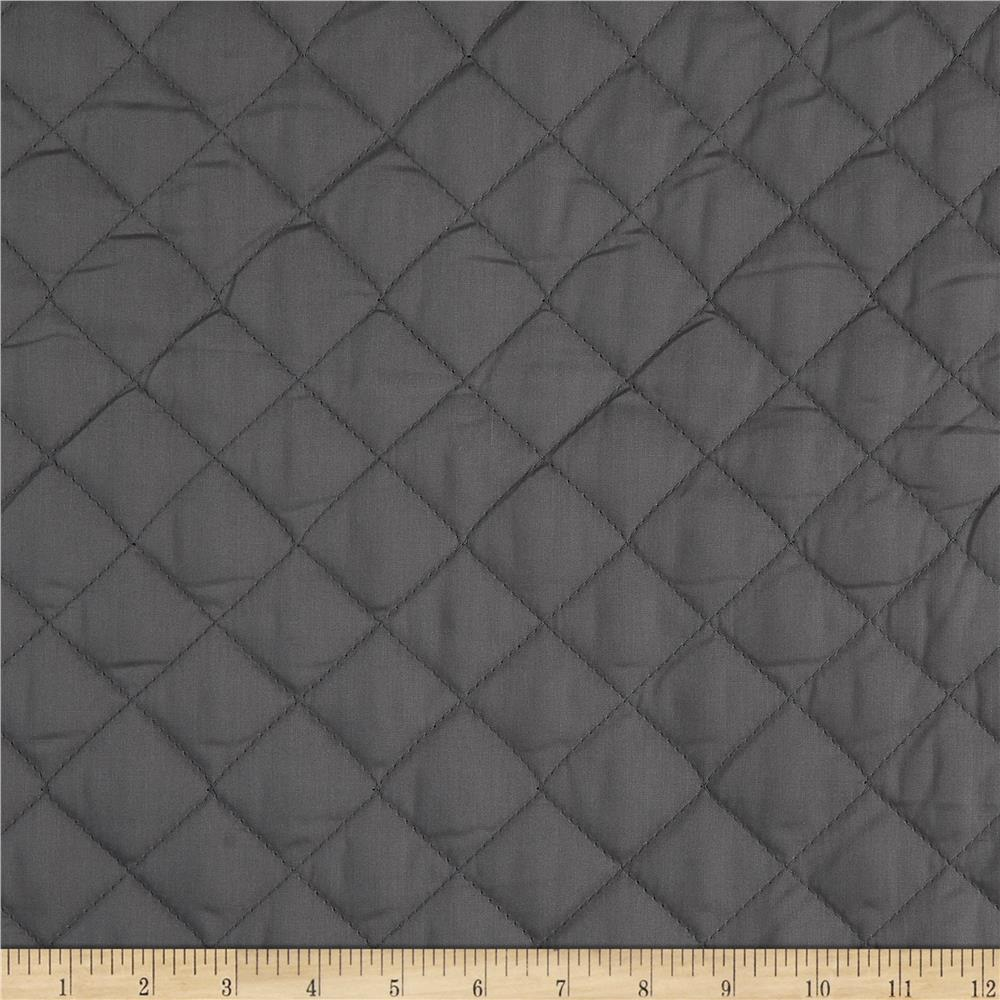 Double Sided Quilted Broadcloth Dark Grey Fabric By The Yard