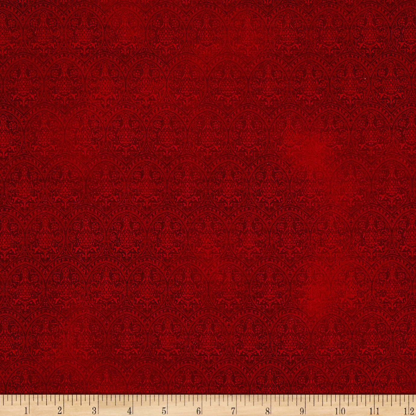 Letters From The Heart Lace Damask Cranberry Fabric by Quilting Treasures in USA