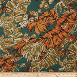 Canopy Cove Foliage Teal Fabric