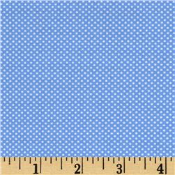 Moda Dottie Tiny Dots Sky Blue Fabric