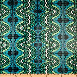 Amy Butler Laminated Cotton Lark Gypsy Cobalt