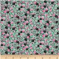 Spring Fling Packed Floral Mint/Pink
