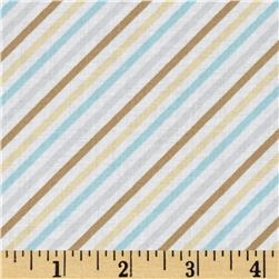 Cotton Tale Diagonal Stripe Aqua