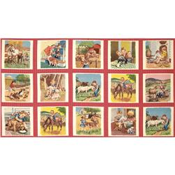 Moda Pot Luck Farmyard Panel Cherry