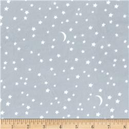 Michael Miller Minky Puddle Play Starry Too Steel
