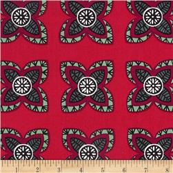 Garden Strings Starflower Red Fabric