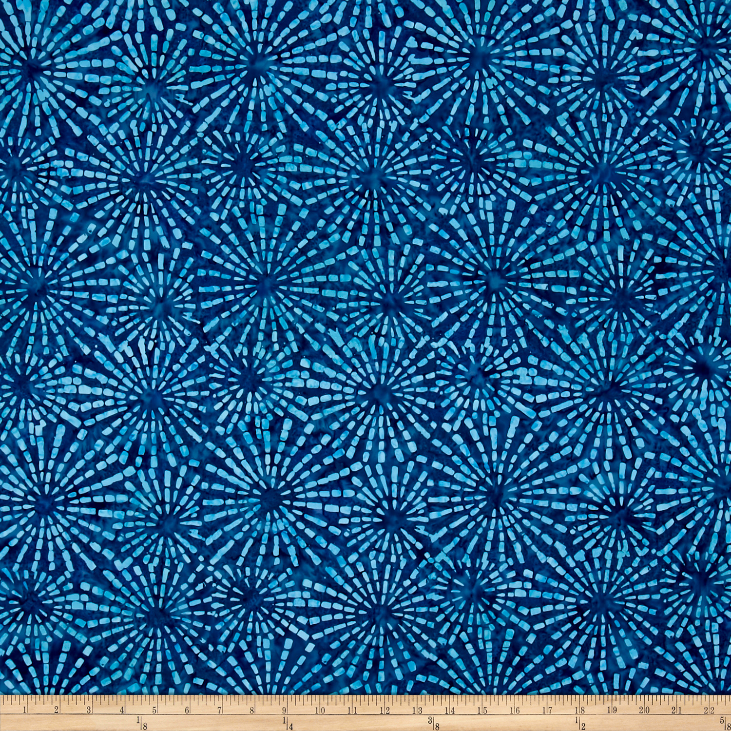 Benartex Balis Batik Sundrenched Ray of Light Blue Fabric 0470735