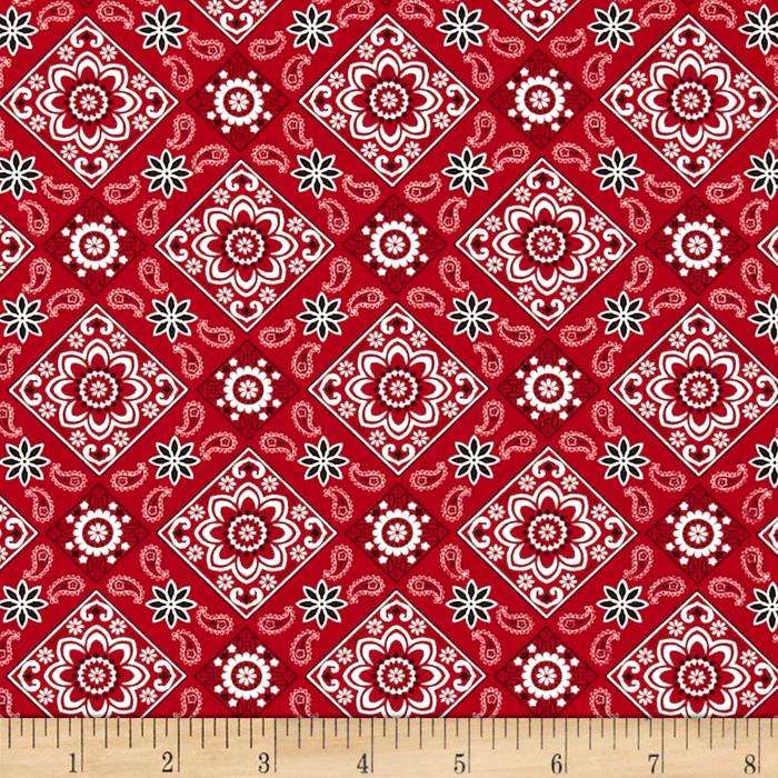 Timeless Treasures Bandana Red
