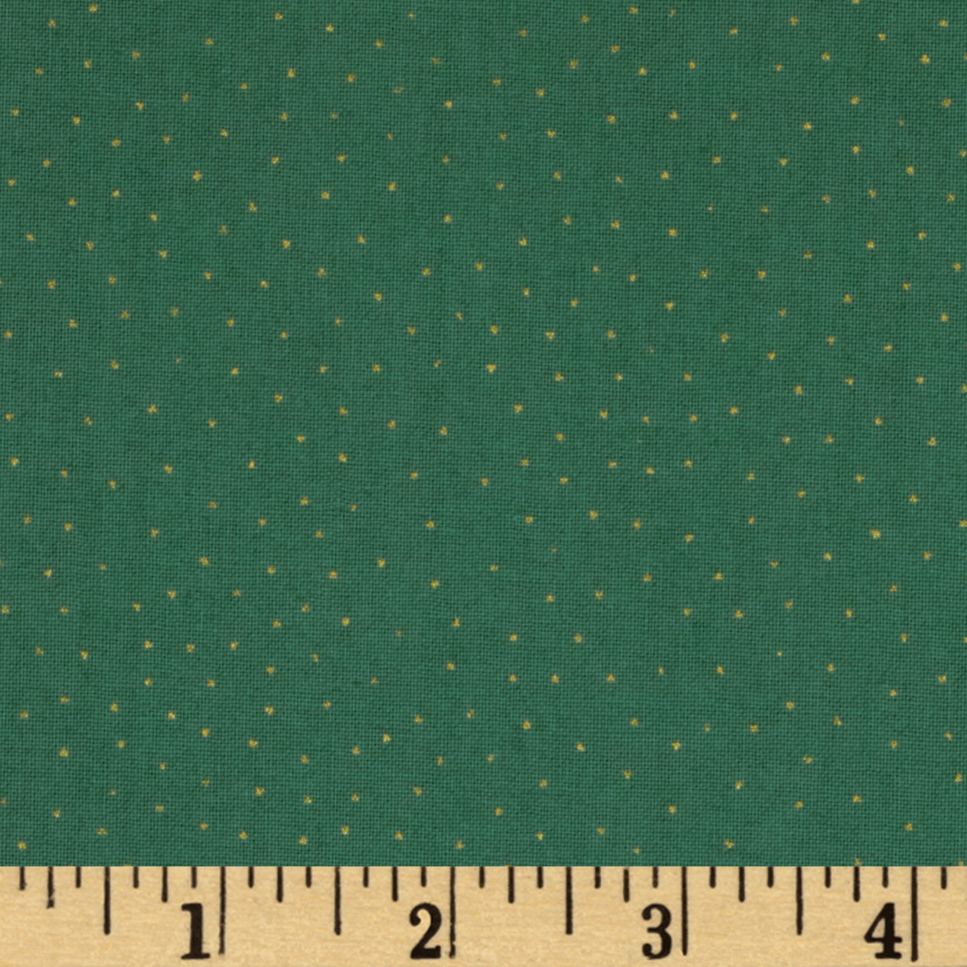 Gatsby Metallic Dot Green Fabric