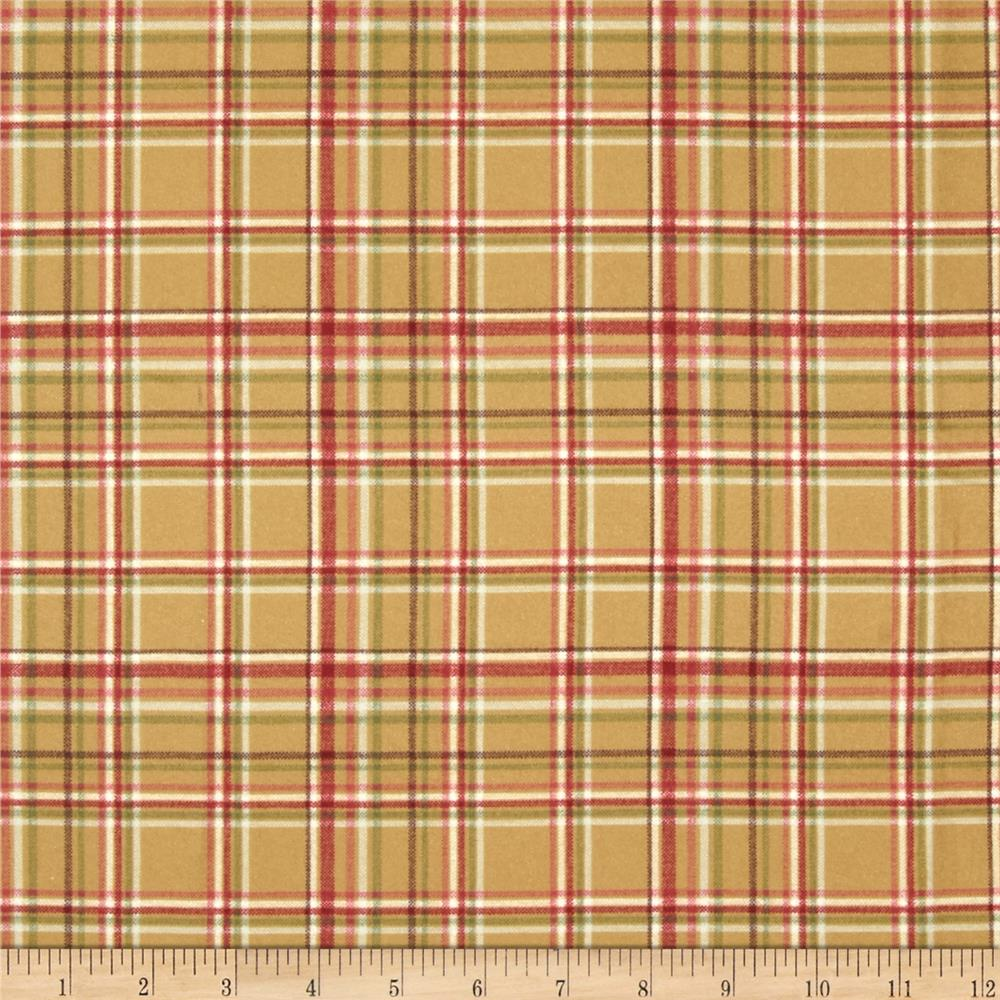 Buggy Barn Flannel Essentials 7 Plaid Tan