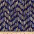 Imperial Collection Metallics Dash Chevron Indigo