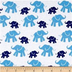Flannel Cute Elephant Navy