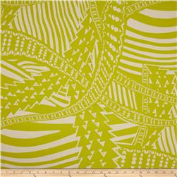 Black & White Paramount Abstract Geo Yellow/Tea Fabric