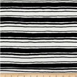 Onion Skin Striped Jersey Knit Black/White