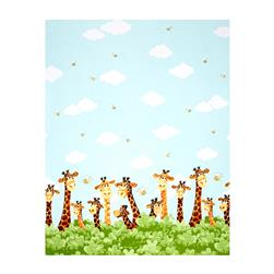 Susybee Zoe the Giraffe Zoe Single Border Aqua