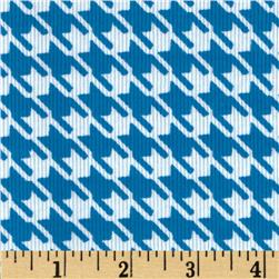 Kaufman Cool Cords Houndstooth Peacock Fabric