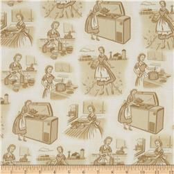 Remember When Irma Harding Vignettes Cream/Tan Fabric