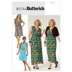 Butterick Women's Shrug, Dress and Belt Pattern B5764 Size KK0