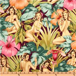Pin Ups Mirage Garnet Fabric