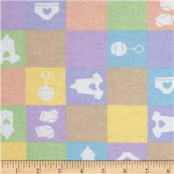 Newcastle Flannel Baby Checks Multi Fabric