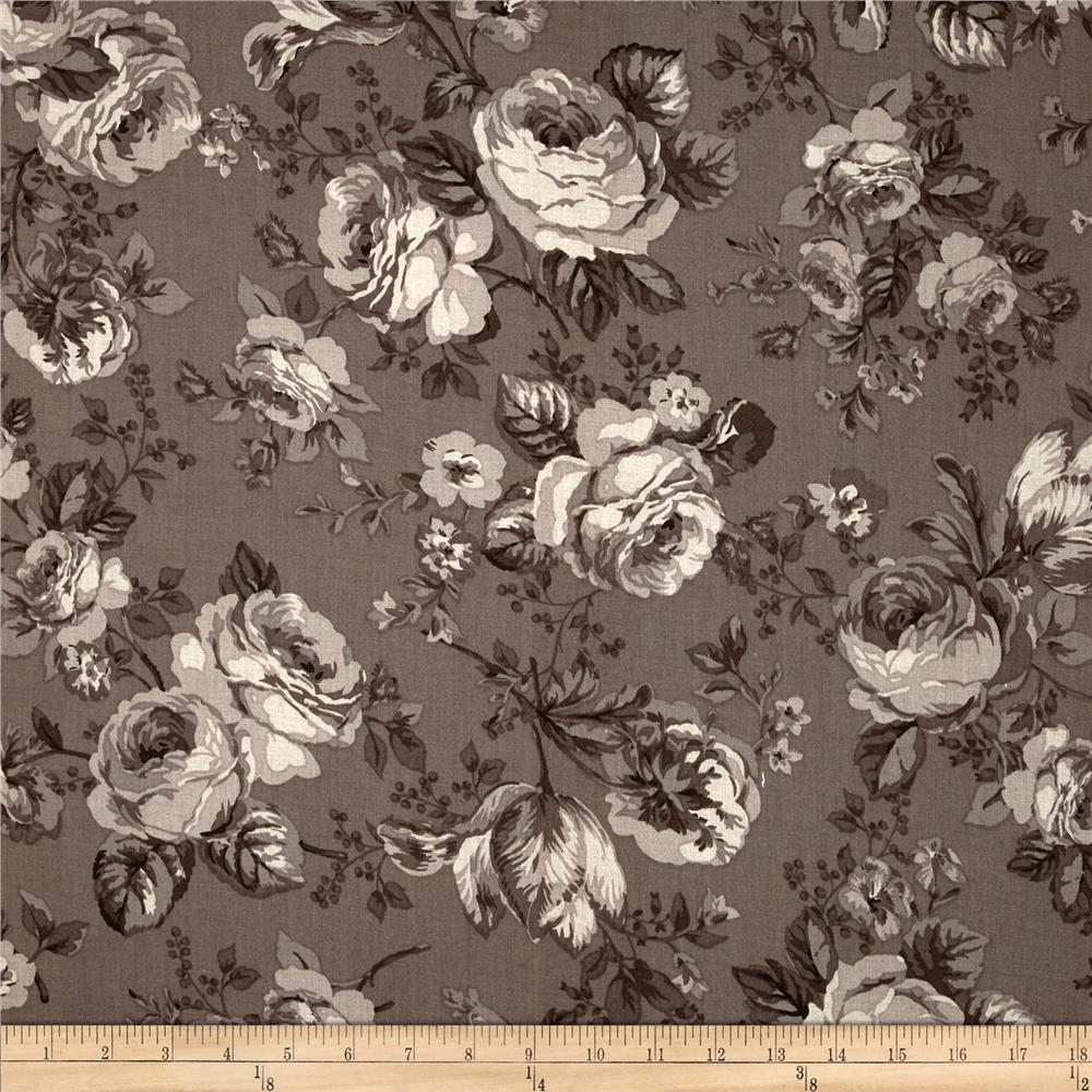 Michele's Rose 108 In. Wide Quilt Back Cocoa