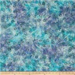 Batavian Batik Dancing Leaves Stillwater Blue