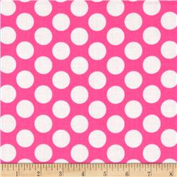 Neon & On Polka Dot Neon Pink Fabric