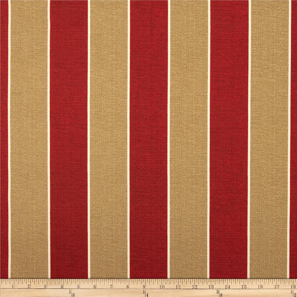 Richloom Solar Outdoor Wickenburg Stripe Cherry