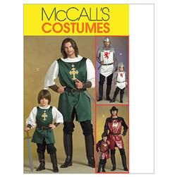 McCall's Men's/Children's/ Boys' Knight, Prince and Samurai