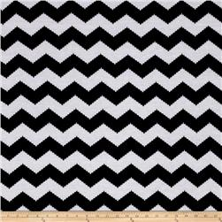 Jersey Knit Lightning Chevron White
