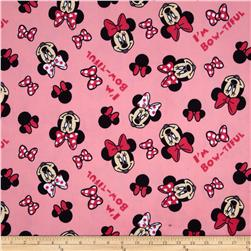 Disney Minnie Head Toss Minky Pink