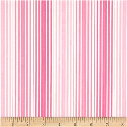 Moda Rainy Day It's Pouring Stripe Umbrella Pink