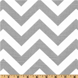 Premier Prints ZigZag Slub Grey/White