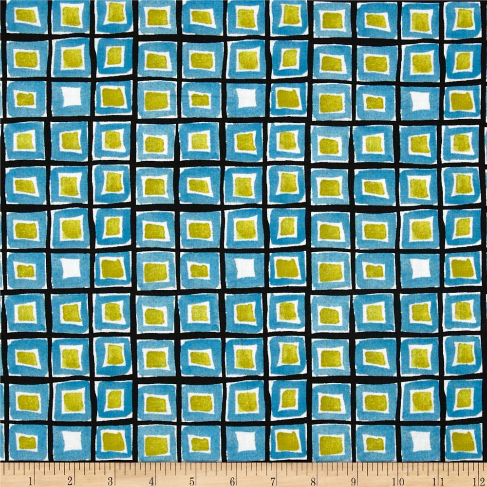 Abstract Squares Black/Multi