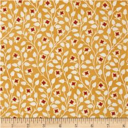 Mary Koval Tree of Life Vine Leaf Yellow