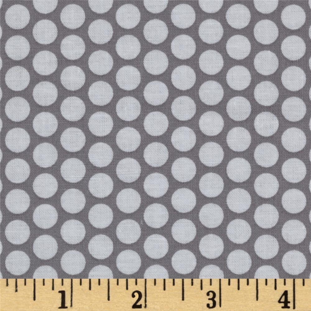 Riley Blake Honeycomb Dot Grey/White